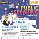 [Workshop Online] Public Speaking for Kids and Teens